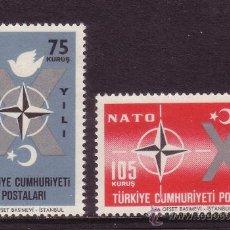 Sellos: TURQUIA 1614/15** AÑO 1962 - 10º ANIVERSARIO DE LA OTAN. Lote 108687092
