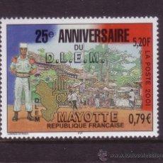 Sellos: MAYOTTE 103** - AÑO 2001 - 25º ANIVERSARIO DE D. L. E. M.. Lote 37988918