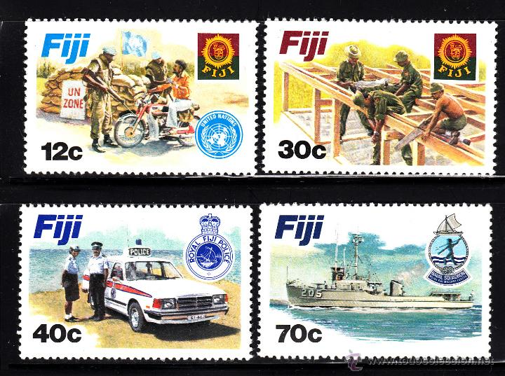 FIJI 457/60** - AÑO 1982 - FUERZAS ARMADAS DE FIJI - BARCOS (Sellos - Temáticas - Militar)