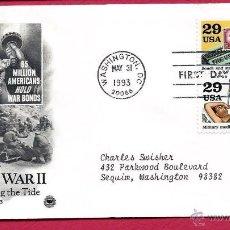 Sellos: EEUU 1993 SOBRE PRIMER DIA DE CIRCULACION FDC SEGUNDA GUERRA MUNDIAL- WORLD WAR II- CRUZ ROJA. Lote 45261772