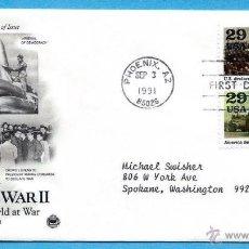 Sellos: EEUU 1993 SOBRE PRIMER DIA DE CIRCULACION FDC SEGUNDA GUERRA MUNDIAL- WORLD WAR II. Lote 45261838