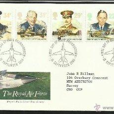 Sellos: GRAN BRETAÑA 1986 SOBRE PRIMER DIA CIRCULACION 50 AÑOS DE LA ROYAL AIR FORCE- AVION- AVIONES- FDC. Lote 46165864