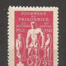 Sellos: 2130 -INTERESANTE VIÑETA 1942 PRISIONEROS DE GUERRA CRUZ ROJA FRANCIA.COMITÉ CENTRAL DE ASISTENCIA. Lote 182919177