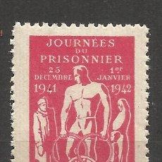 Sellos: 1034 -INTERESANTE VIÑETA 1942 PRISIONEROS DE GUERRA CRUZ ROJA FRANCIA.COMITÉ CENTRAL DE ASISTENCIA. Lote 182919198