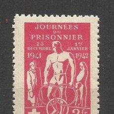 Sellos: 0581 -INTERESANTE VIÑETA 1942 PRISIONEROS DE GUERRA CRUZ ROJA FRANCIA.COMITÉ CENTRAL DE ASISTENCIA. Lote 182919161