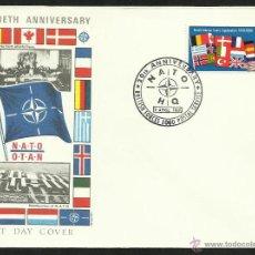 Sellos: GRAN BRETAÑA 1969 SOBRE PRIMER DIA DE CIRCULACION 20 ANIV. TRATADO DEL ATLANTICO NORTE- OTAN- FDC. Lote 47671973