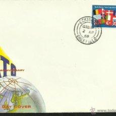 Sellos: GRAN BRETAÑA 1969 SOBRE PRIMER DIA DE CIRCULACION 20 ANIV. TRATADO DEL ATLANTICO NORTE- OTAN- FDC. Lote 47671991