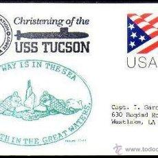 Sellos: USA - BAUTISMO SUBMARINO USS TUCSON. Lote 11333888