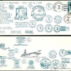 Sellos: 25 ANIVERSARIO PORTAAVIONES USS NIMITZ. Lote 45033130