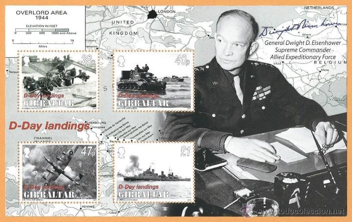 GIBRALTAR 2004 D-DAY LANDINGS EISENHOWER WWII (Sellos - Temáticas - Militar)