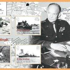 Sellos: GIBRALTAR 2004 D-DAY LANDINGS EISENHOWER WWII. Lote 52941002