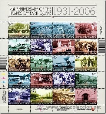 NUEVA ZELANDA 2006 75TH ANNIVERSARY OF THE HAWKE'S BAY EARTHQUAKE (Sellos - Temáticas - Militar)