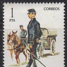 Sellos: EDIFIL 2423, UNIFORMES MILITARES GRUPO VIII, OFICIAL ADMINISTRACION MILITAR 1875, NUEVO ***. Lote 53567442