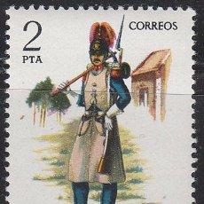 Sellos: EDIFIL 2382, UNIFORMES MILITARES GRUPO VII, GASTADOR DEL REGIMIENTO DE INGENIEROS 1850, NUEVO ***. Lote 53568811