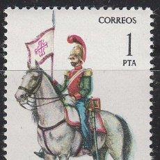 Sellos: EDIFIL 2381, UNIFORMES MILITARES GRUPO VII, LANCERO DEL REGIMIENTO DE CALATRAVA 1844, NUEVO ***. Lote 53568821