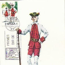 Sellos: EDIFIL 2239, FUSILERO DEL REGIMIENTO DE VITORIA 1766, TARJETA MAXIMA DE PRIMER DIA DE 7-1-1975. Lote 53887732
