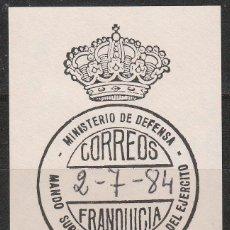 Sellos: FRANQUICIA, MINISTERIO DE DEFENSA, MANDO SUPERIOR DE PERSONAL DEL EJERCITO. Lote 54253169