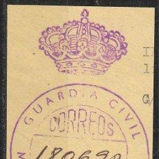 Sellos: FRANQUICIA, GUARDIA CIVIL - MINISTERIO DEL INTERIOR (GUARDIA CIVIL ARRIBA Y CORONA PEQUEÑA SEPARADA). Lote 54253240