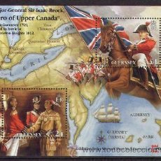 Sellos: GUERNSEY 1996 HOJA BLOQUE NUEVO LUJO SIR ISAACBROCK MNH *** SC HB. Lote 155561848