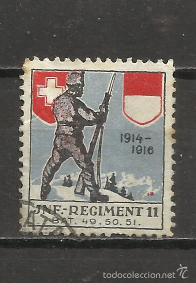 7445-VIÑETA VIGNETTE VIGNETTEN SUIZA REGIMENT Nº11,1ª GUERRA MUNDIAL 1914-1916. ,MILITARIA,EJERCITO. (Sellos - Temáticas - Militar)