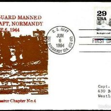 Sellos: USA 1994 ANIVERSARIO DESEMBARCO EN NORMANDIA. Lote 56975569