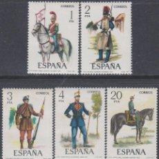 Sellos: EDIFIL 2381/5, UNIFORMES MILITARES GRUPO VII (SIGLO XIX), NUEVO *** (SERIE COMPLETA). Lote 98545360