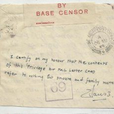 Sellos: CENSURA 1944 BASE USA. Lote 57920094