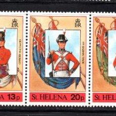 Sellos: SANTA HELENA 495/99** - AÑO 1989 - UNIFORMES MILITARES. Lote 58418056