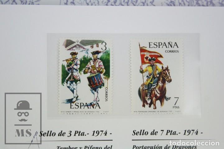 Sellos: Colección de Sellos - El Ejército de Tierra en la Filatelia Española, 1927-2002 - Edición Limitada - Foto 9 - 77218489