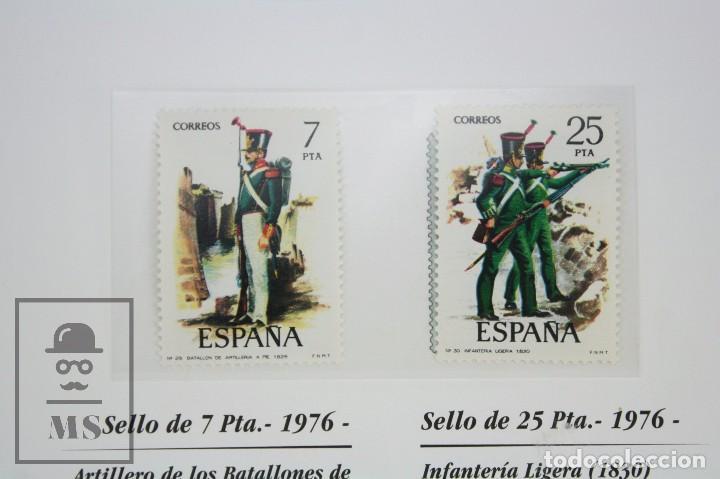 Sellos: Colección de Sellos - El Ejército de Tierra en la Filatelia Española, 1927-2002 - Edición Limitada - Foto 11 - 77218489