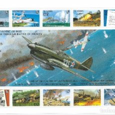 Sellos: GAMBIA 1992 - LA SEGUNDA GUERRA MUNDIAL EN EL PACÍFICO - II GM - AVIONES - SELLOS - SC 1265. Lote 86674756