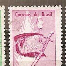 Sellos: BRASIL ** & 150 AÑOS DE LA ACADEMIA MILITAR DE LAS AGUJAS NEGRAS 1961 (705). Lote 98687339