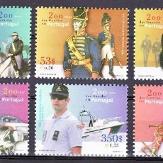 Sellos: TEMA MILITARES. PORTUGAL 2001 6V. GUARDAS EN PORTUGAL, NACIONAL LISBOA,.... Lote 102377287