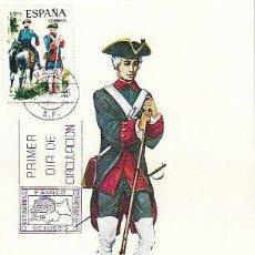 Sellos: EDIFIL 2237, REAL CUERPO DE ARTILLERIA 1762, TARJETA MAXIMA DE PRIMER DIA DE 7-1-1975. Lote 107012415