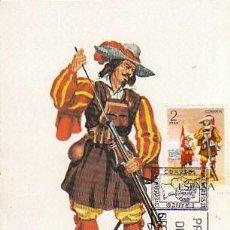 Timbres: EDIFIL 2168, ARCABUCERO DE INFANTERIA DE 1632, TARJETA MAXIMA DE PRIMER DIA DE 5-1-1974. Lote 107584571