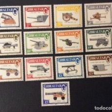 Sellos: GIBRALTAR Nº YVERT 536/48*** AÑO 1987. CAÑONES. Lote 108131187