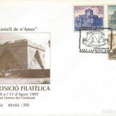 Sellos: AÑO 1997. SANT LLORENÇ, MALLORCA. MATASELLOS. FORTALEZA CASTELL DE N'AMER.. Lote 108256143