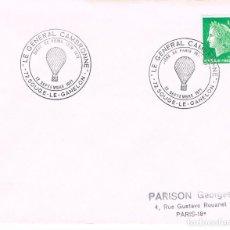 Sellos: FRANCIA, LE GENERAL CAMBRONE, SITIO DE PARIS EN 1870 (GLOBO AEROSTATICO), MATASELLO DE 12-9-1971. Lote 108820575
