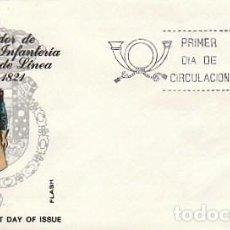 Sellos: EDIFIL 2351, UNIFORMES MILITARES: GASTADOR D INFANTERIA DE LINEA DE 1821, PRIMER DIA 15-7-1976 ALFI. Lote 109296495