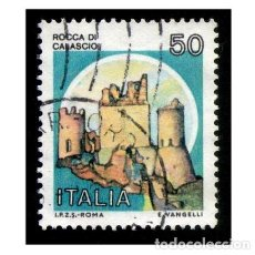 Timbres: ITALIA 1980. MICHEL 1705IA. YVERT 437. CASTILLOS - CALASCIO. USADO. Lote 110483551