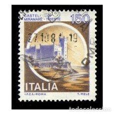 Timbres: ITALIA 1980. MICHEL 1710I. IVERT 1442. CASTILLOS - DI MIRAMARE (TRIESTE). USADO. Lote 110488327