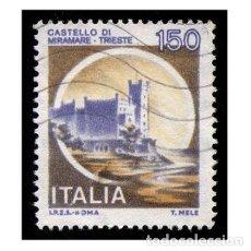 Timbres: ITALIA 1980. MICHEL 1710I. IVERT 1442. CASTILLOS - DI MIRAMARE (TRIESTE). USADO. Lote 110488359