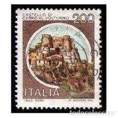 Timbres: ITALIA 1980. MICHEL 1713II. IVERT 1445. CASTILLOS - CERRO AL VOLTURNO. USADO. Lote 110488491
