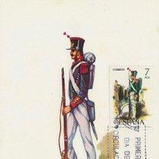 Sellos: EDIFIL 2353, UNIFORMES MILITARES: INFANTERIA LIGERA DE 1830, TARJETA MAXIMA PRIMER DIA DE 15-7-1976. Lote 112441939