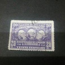 Timbres: SELLOS DE R. DE ECUADOR MATASELLADOS CON BISAGRA. 1936. PERSONALIDADES. EXCUSO ARMAS. AGUILA. MONTAÑ. Lote 113001379