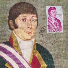 Timbres: EDIFIL 1821, FRANCISCO A MOURELLE, TARJETA MAXIMA MATASELLO MINISTERIO MARINA PRIMER DIA 12-10-1967. Lote 114791563