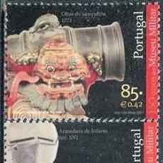Sellos: PORTUGAL - 150 AÑOS DEL MUSEO MILITAR (2001) **. Lote 115672015