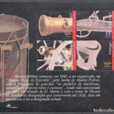 Sellos: PORTUGAL - 150 AÑOS DEL MUSEO MILITAR - HB (2001) **. Lote 115672327