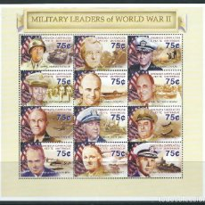 Sellos: GRENADA CARRICAOU & PETITE MARTINIQUE 2001** MILITARY LEADERS OF WORLD WAR II . Lote 116251995