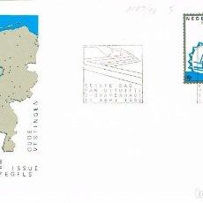 Sellos: HOLANDA IVERT Nº 1189/90, FORTIFICACIONES: ENKHUISEN Y COEVORDEN, PRIMER DIA DE 16-9-1982. Lote 121976731